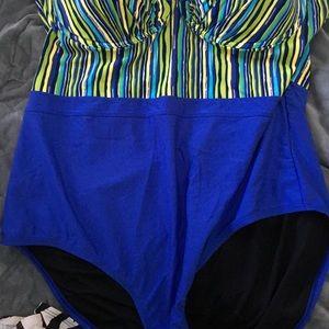 13eaeb517c530 Ashley Stewart Swim - Plus size 22 Ashley stewart bustier bathing suit.
